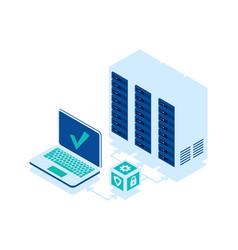 open laptop isometric icon vector image