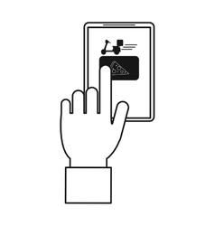 order food online website delivery outline vector image