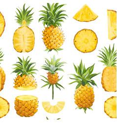 pineapple geometric seamless pattern vector image