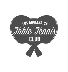 Ping pong emblem label badge and designed vector