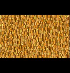 random gold mosaic background vector image