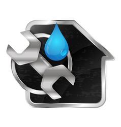 repair and maintenance of home plumbing vector image