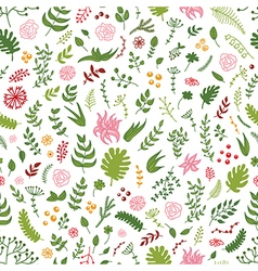 Seamless hand drawn floral pattern vector