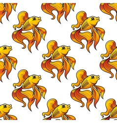 Seamless pattern of ornamental goldfish vector