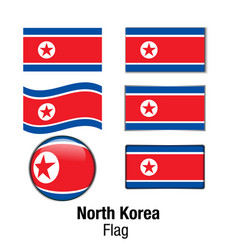 set flag north korea vector image