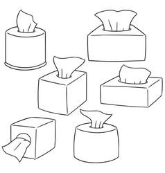 Set of tissue paper vector