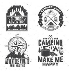 Set outdoor adventure inspirational quote vector