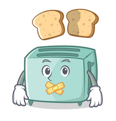 silent toaster character cartoon style vector image