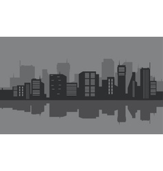 Silhouette of the city seafront vector