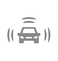 Smart car icon intelligent vehicle vector