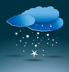 Snow clouds vector