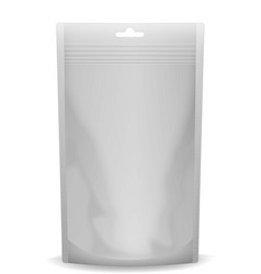 Stand-up pouch mockup - front view vector