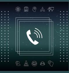 Telephone handset telephone receiver icon vector