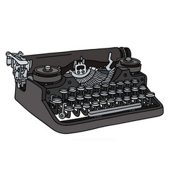 The vintage portable typewriter vector