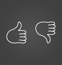 Thumb up icons draw effect vector image