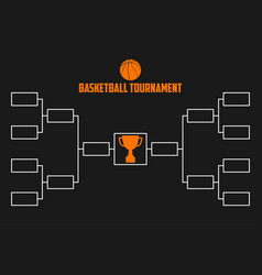 Tournament bracket basketball championship scheme vector