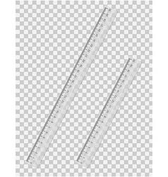 transparent ruler 01 vector image