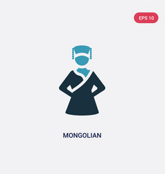 Two color mongolian icon from shapes concept vector