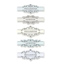 Vintage filigree frames and borders set vector image