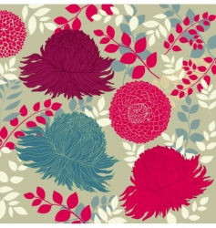 wallpaper with flowers vector image