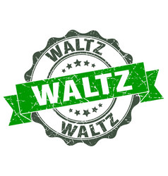 waltz stamp sign seal vector image