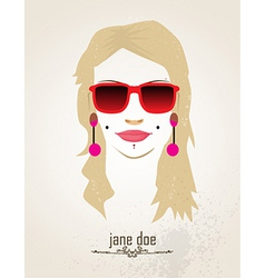 Woman with sunglasses vector