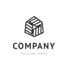 creative company logo design trendy symbol for vector image vector image