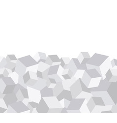 Grey cube background vector image
