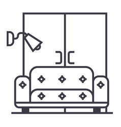living roomsofawardrobe line icon sign vector image