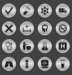 set of 16 editable health icons includes symbols vector image vector image