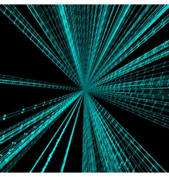 Connection Structure Wireframe 3d Optical Fiber vector image