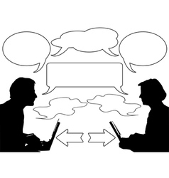 Discussion vector image vector image