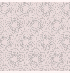 geometric contour pattern on pink background vector image