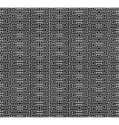 Spiral geometric black seamless vector image vector image