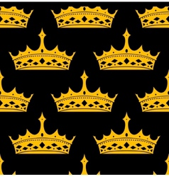 Vintage royal seamless apttern with golden crowns vector image vector image