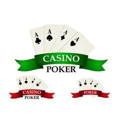 Casino gambling symbols and signs vector