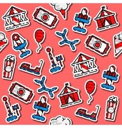 Colored Amusement park pattern vector image