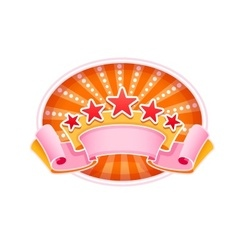 Emblem logo for show circus vector image vector image