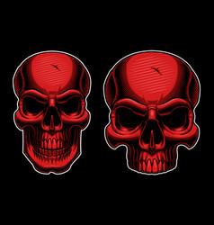 halftone skull vector image vector image