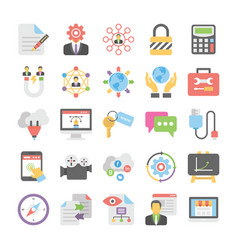 seo and digital marketing colored icons 4 vector image vector image