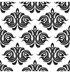 Abstract floral seamless pattern background vector image