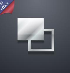 Active color toolbar icon symbol 3D style Trendy vector image vector image
