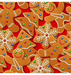 Background with gingerbread vector image