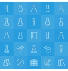 Experiment glass flask icons vector image vector image