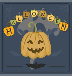 happy halloween greeting card vector image vector image