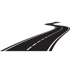 Perspective of curved road vector image vector image