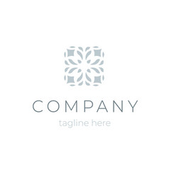 trendy company logo template floral symbol for vector image vector image