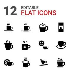 12 mocha icons vector image