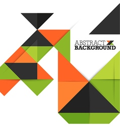 Abstract Background with Triangles Pattern vector image vector image