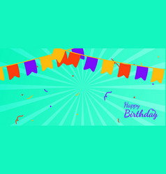 background banner happy birthday with colorful vector image